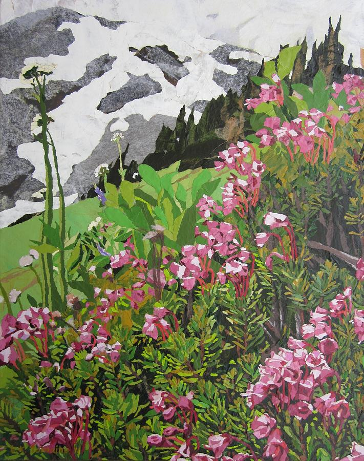 Floral Painting - Spring on Mount Rainier by Leah  Tomaino