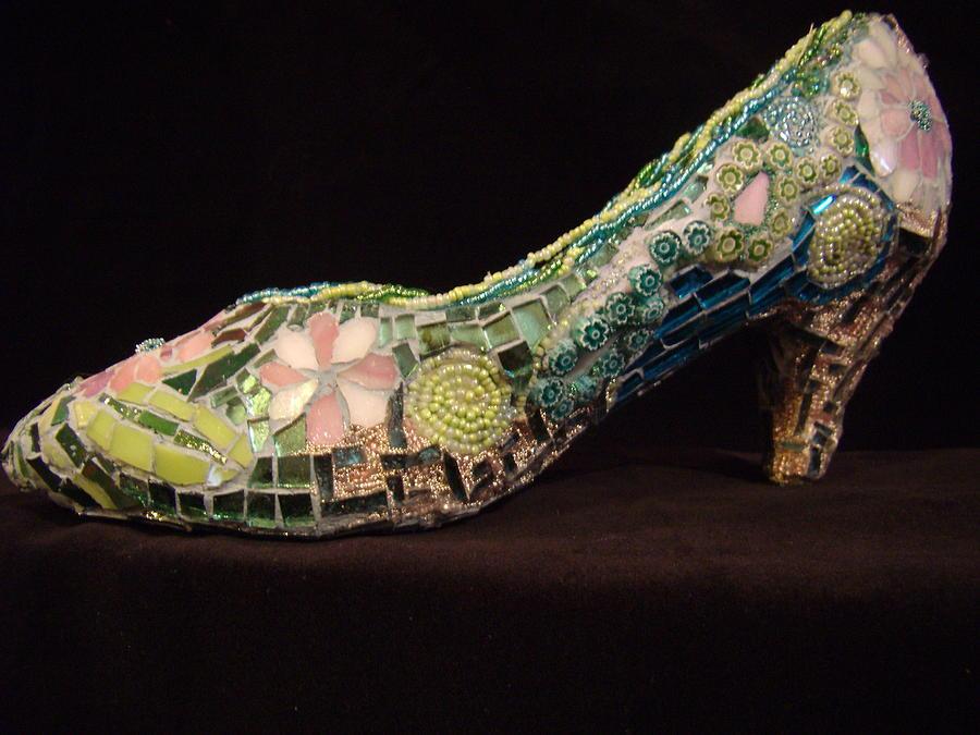 Mosaic Glass Art - Spring On My Step by Kimberly Barrow