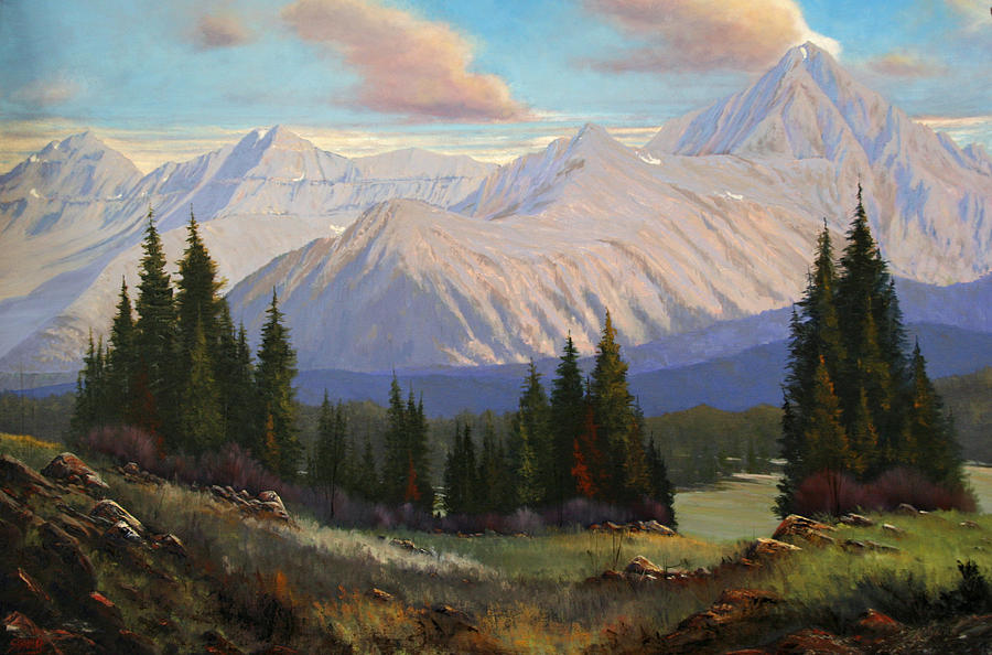 Landscape Painting - Spring On The Dallas Divide 070809-3624 by Kenneth Shanika