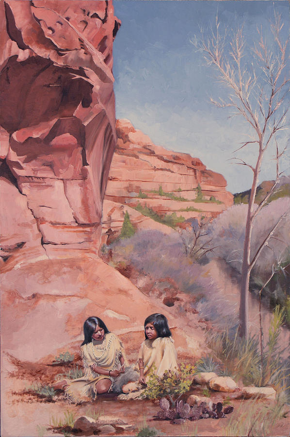 Red Rocks Painting - Spring On The Escalante by Lester Nielsen