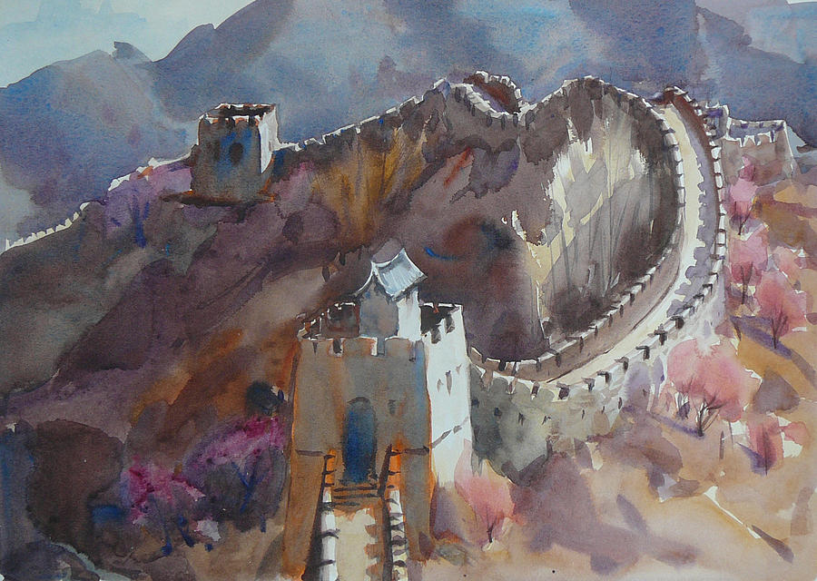 & Spring On The Great Wall Of China Painting by Frank LaLumia