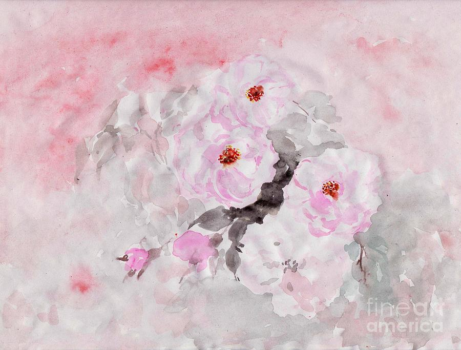 Pink Roses Painting - spring party Healing roses -22 by Sweeping Girl