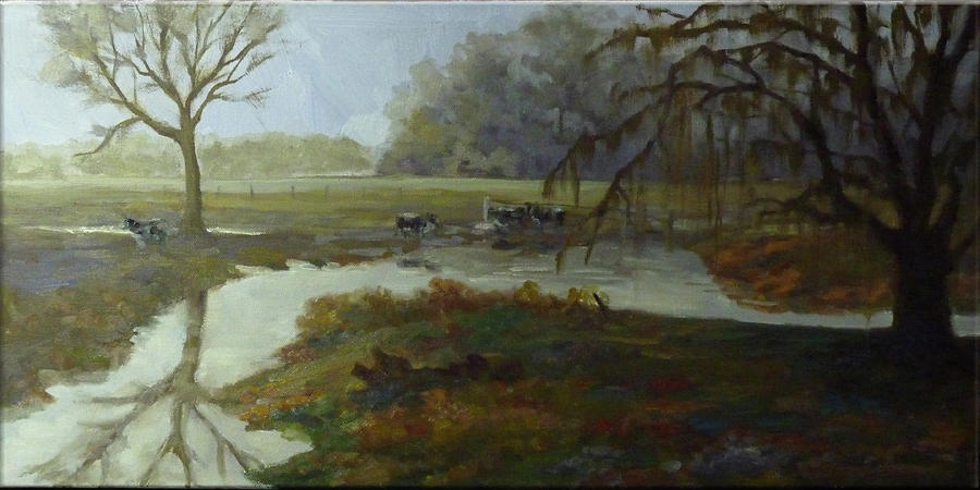 Spring Painting - Spring Pasture by Nora Sallows