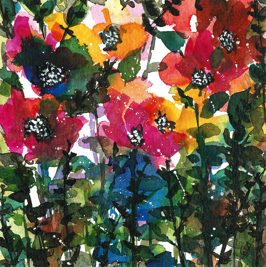 Watercolor Original Painting Painting - Spring Petals by Garima Srivastava
