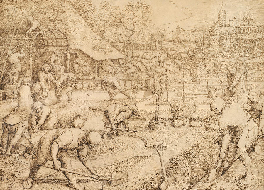Renaissance Painters Drawing - Spring by Pieter Bruegel the Elder