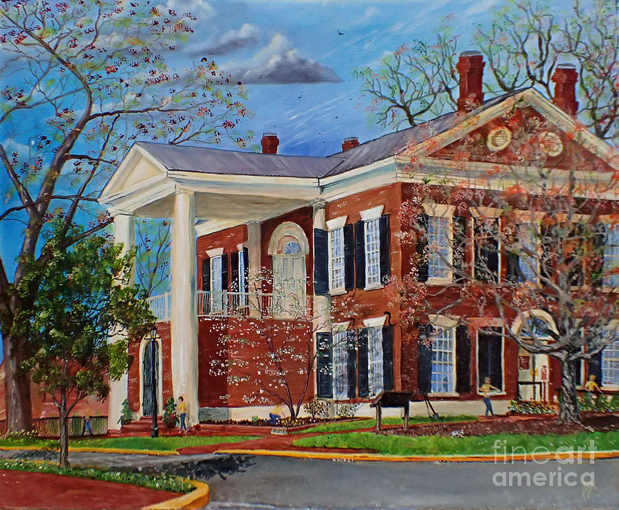 Spring Painting - Spring Planting At The Dahlonega Gold Museum by Nicole Angell