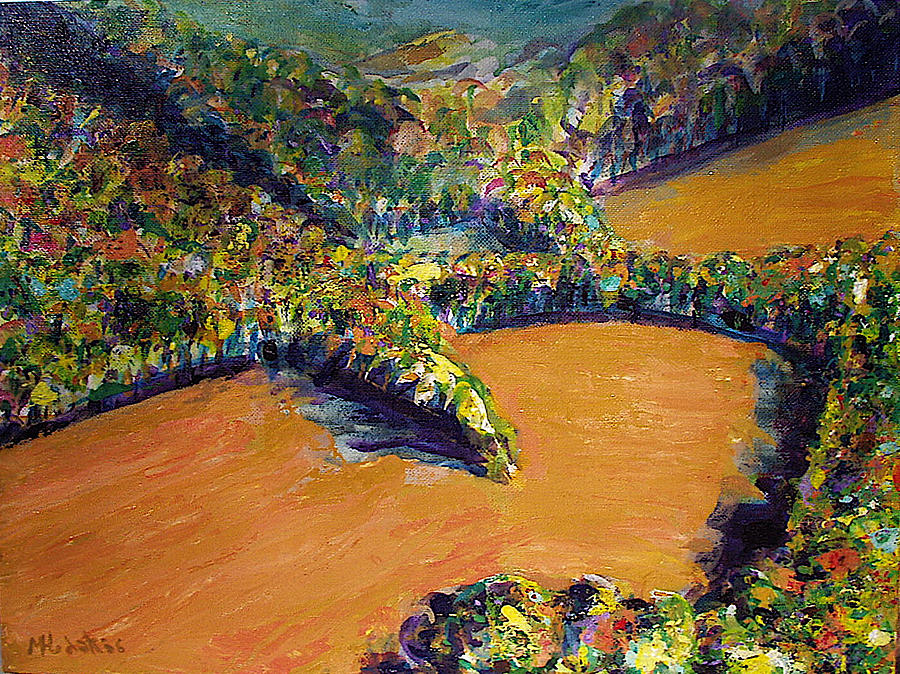 Landscape Painting - Spring Plow by Michael Hudak