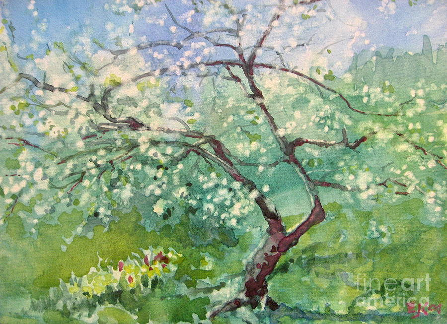 Plum Tree Painting - Spring Plum by Elizabeth Carr