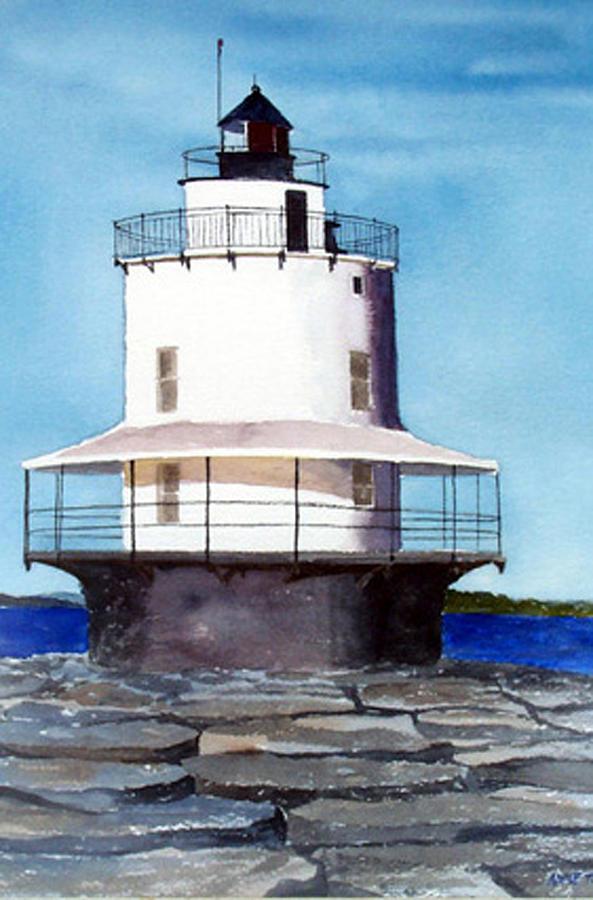 Landscape Print - Spring Point Ledge Light by Anne Trotter Hodge