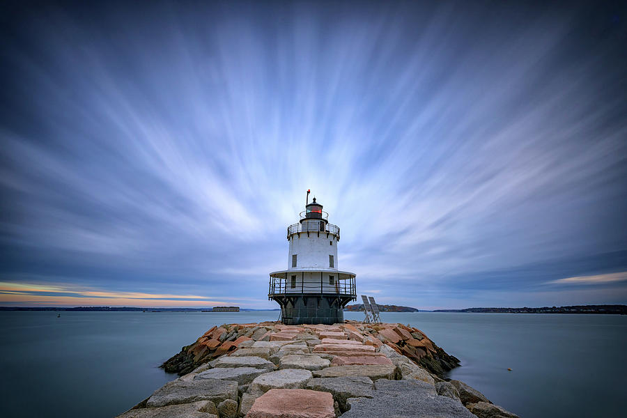 Spring Point Photograph - Spring Point Ledge Light Station by Rick Berk