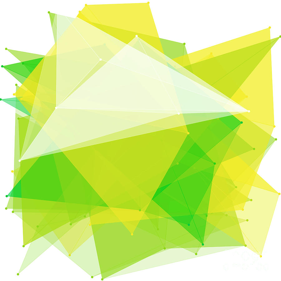 Abstract Digital Art - Spring Polygon Pattern by Frank Ramspott