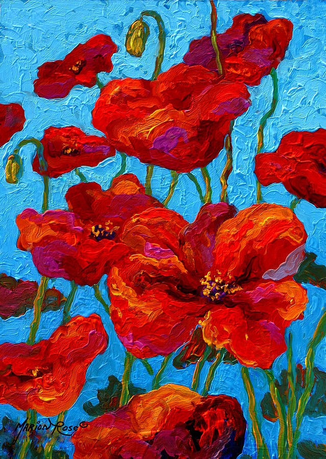 Poppies Painting - Spring Poppies by Marion Rose