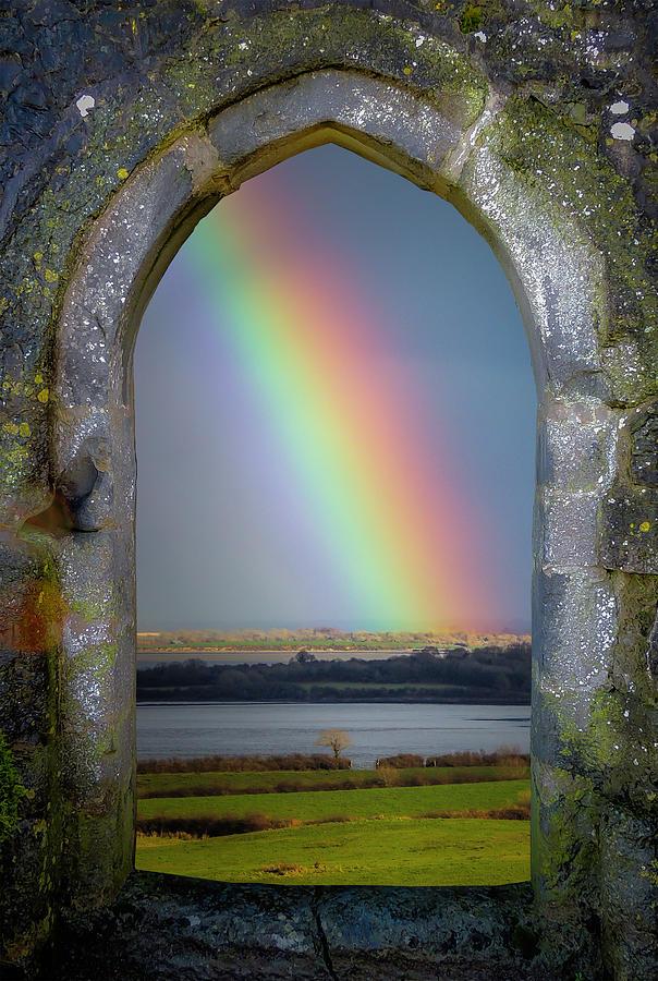 Dysert O Dea Photograph - Spring Rainbow Over Irelands Shannon Estuary by James Truett
