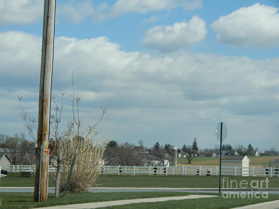 Amish Photograph - Spring Recess Joy by Christine Clark