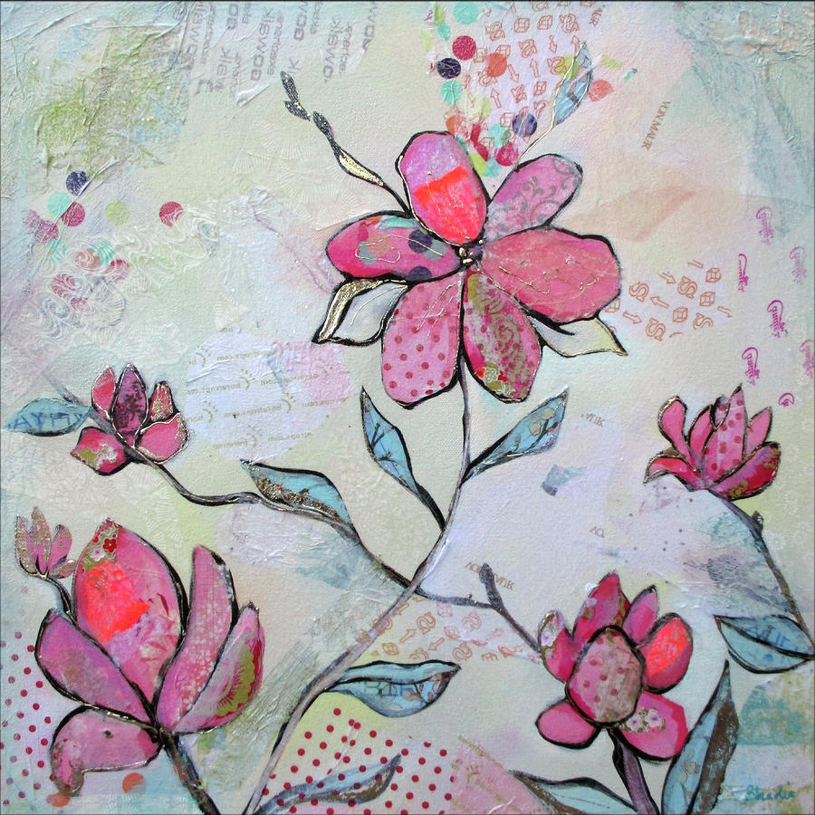 Pink Painting - Spring Reverie II by Shadia Derbyshire