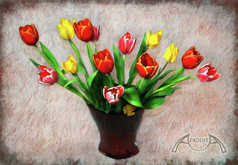 Tulips Photograph - Spring Rhapsody by Afrodita Ellerman