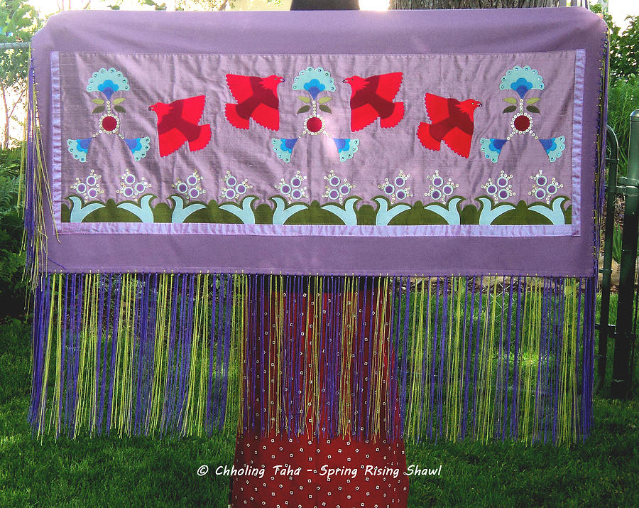 Native American Tapestry - Textile - Spring Rising by Chholing Taha
