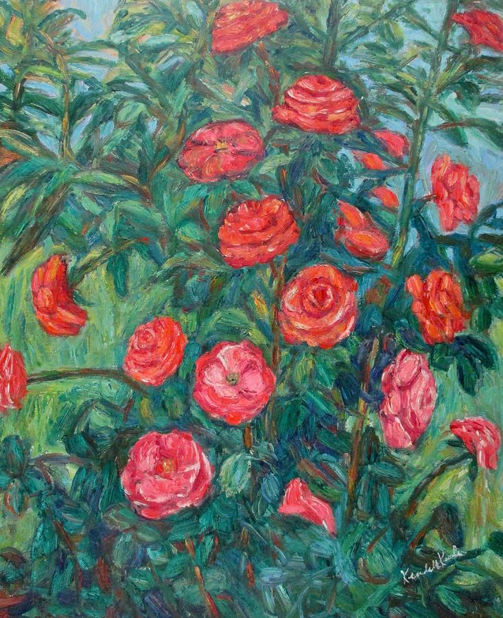 Rose Painting - Spring Roses by Kendall Kessler