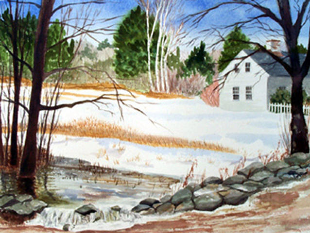 Landscape Painting - Spring Run-off by Anne Trotter Hodge