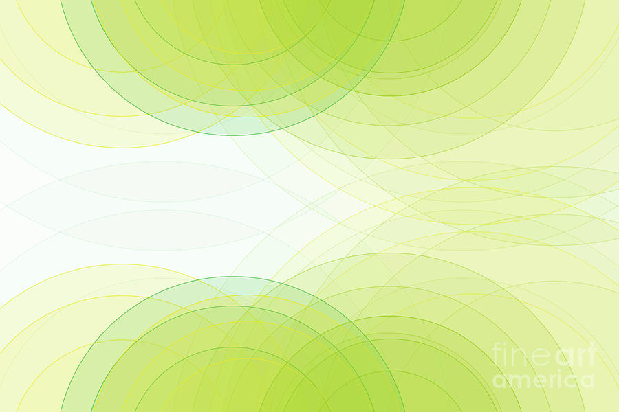 Abstract Digital Art - Spring Semi Circle Background Horizontal by Frank Ramspott