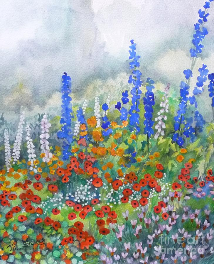 Colour Painting - Spring Serenade by Val Stokes