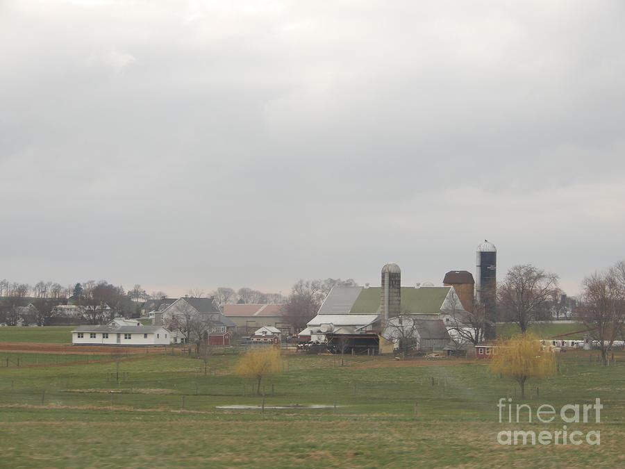 Amish Photograph - Spring Skies Over An Amish Farm by Christine Clark
