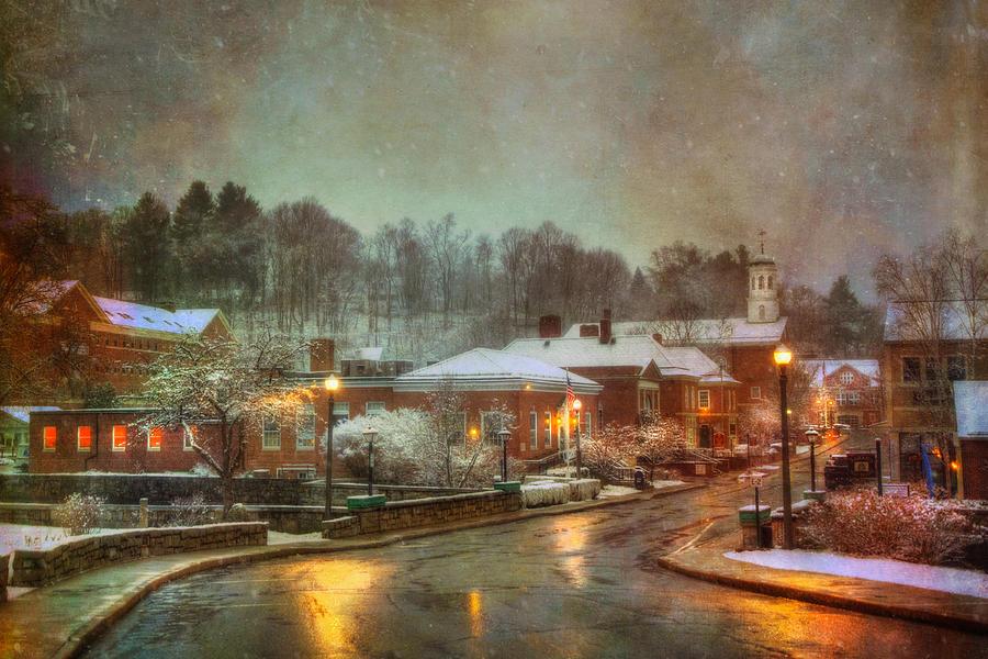 Peterborough Nh Photograph - Spring snow in Peterborough NH by Joann Vitali