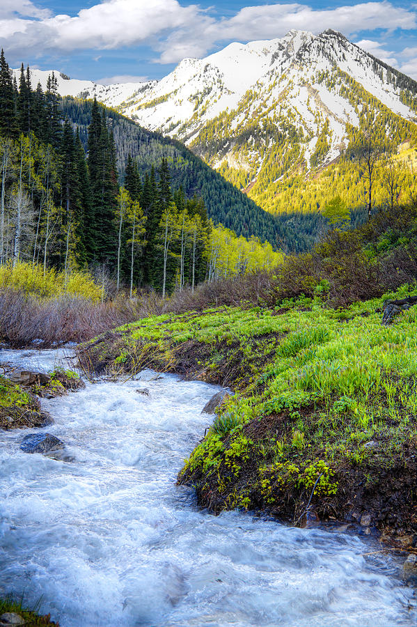 Wasatch Mountains Photograph - Spring Snow Melt Wasatch Mountains Utah by Utah Images