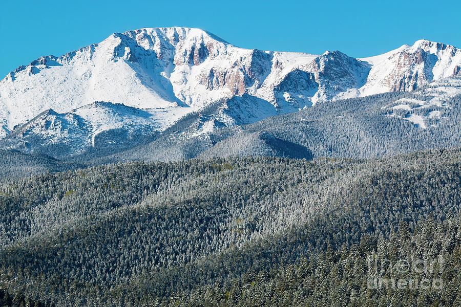 Spring Snow On Pikes Peak Colorado Photograph