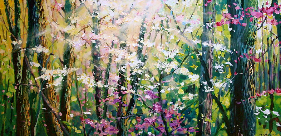 Landscape Painting - Spring Song by David Lobenberg