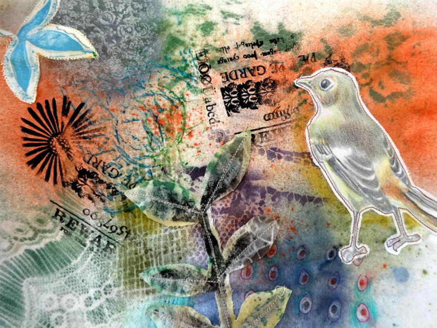 Bird Mixed Media - Spring Song by Rose Legge