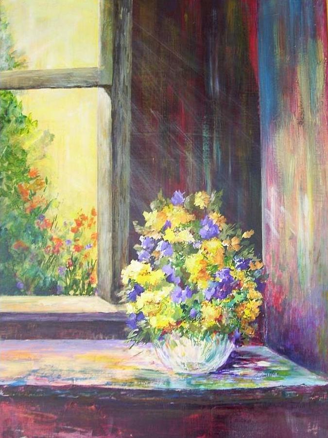 Acrylic Painting - Spring Splash by Barbara Walter
