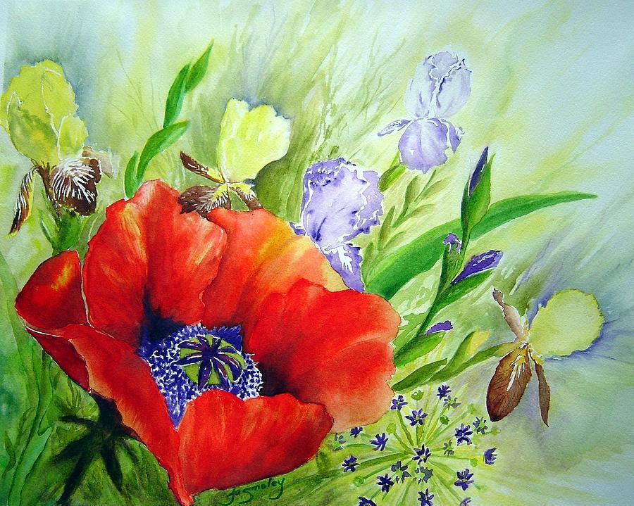 Iris Painting - Spring Splendor by Joanne Smoley