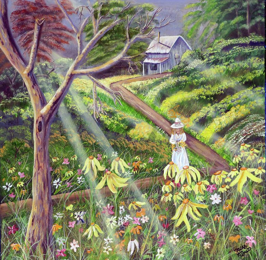 Wildflowers Painting - Spring Splendor by Mikki Alhart