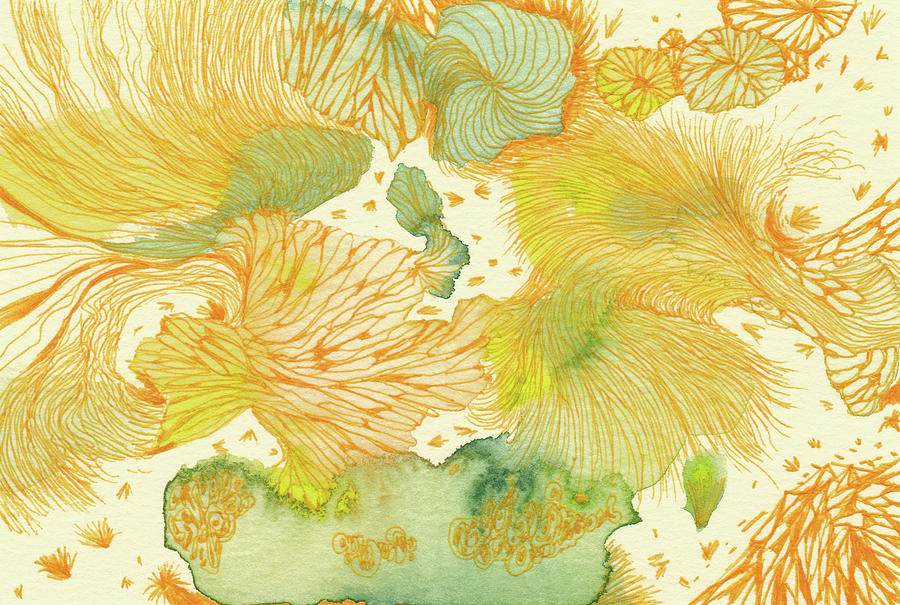 Nature Drawing - Spring - #ss18dw014 by Satomi Sugimoto