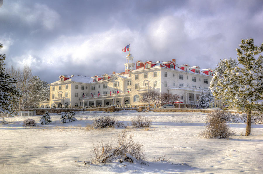 Spring storm at the Stanley Hotel by G Wigler