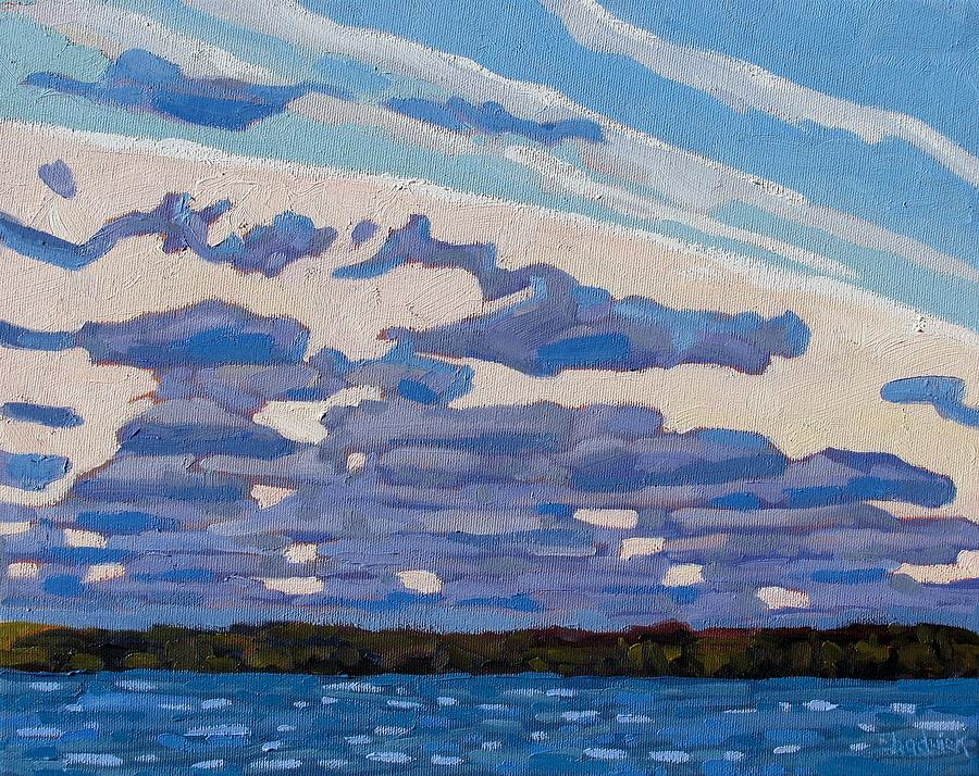 965 Painting - Spring Stratocumulus by Phil Chadwick