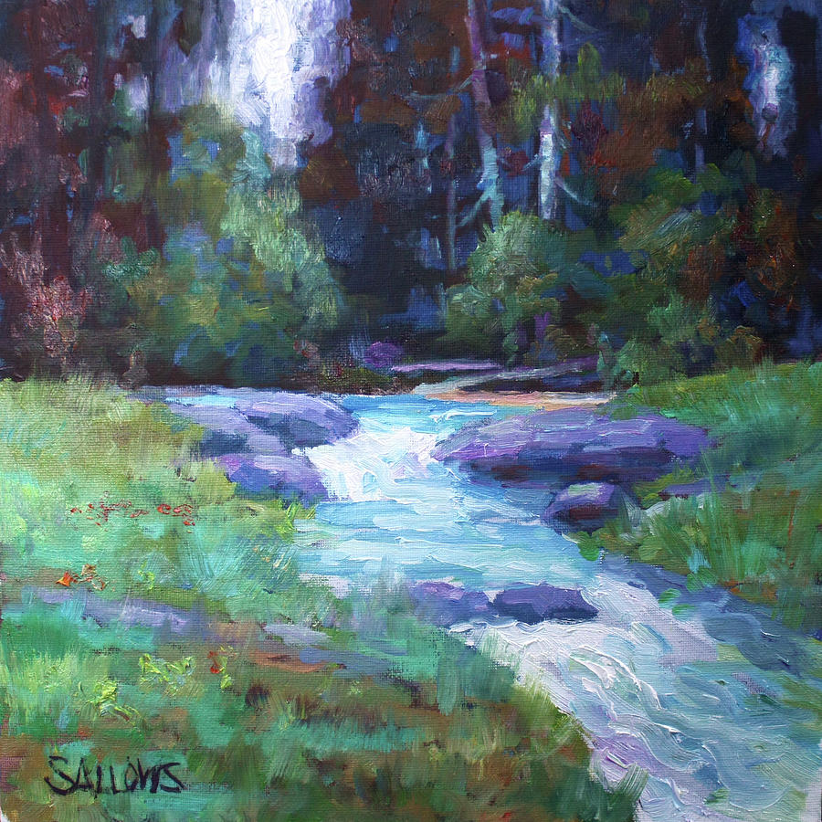 Spring Painting - Spring Stream by Nora Sallows
