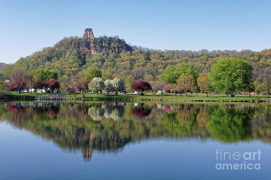 Winona Mn Photograph - Spring Sugarloaf With Reflections by Kari Yearous