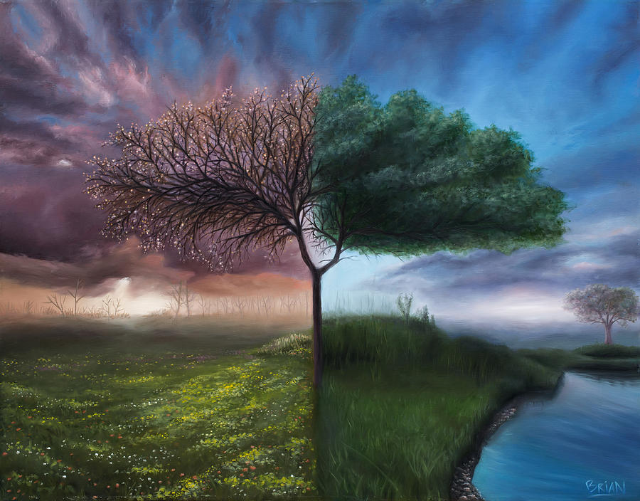 Surrealism Painting - Spring / Summer by Brian Nunes
