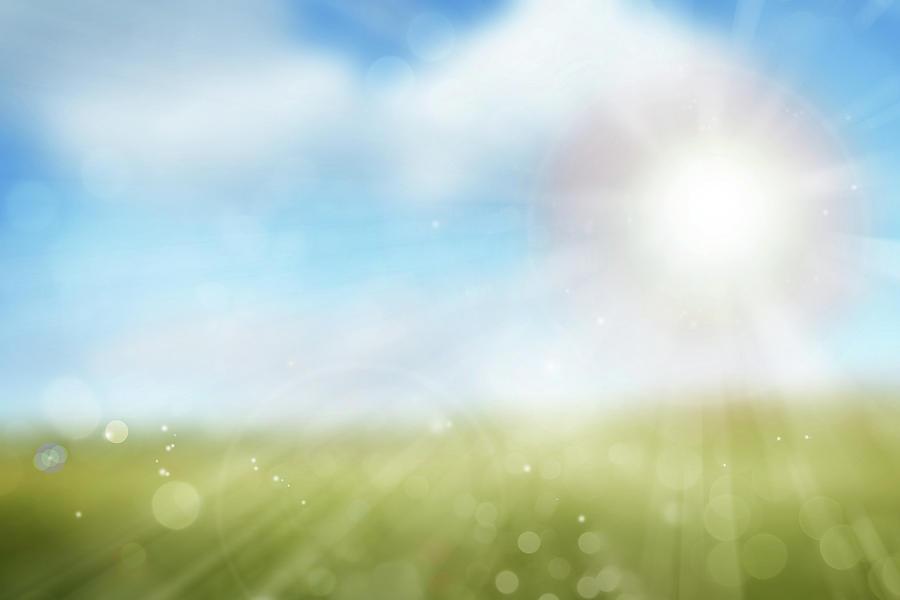 Nobody Digital Art - Spring Sunlight 1 by Les Cunliffe