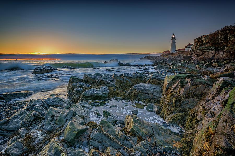 Portland Head Lighthouse Photograph - Spring Sunrise At Portland Head by Rick Berk