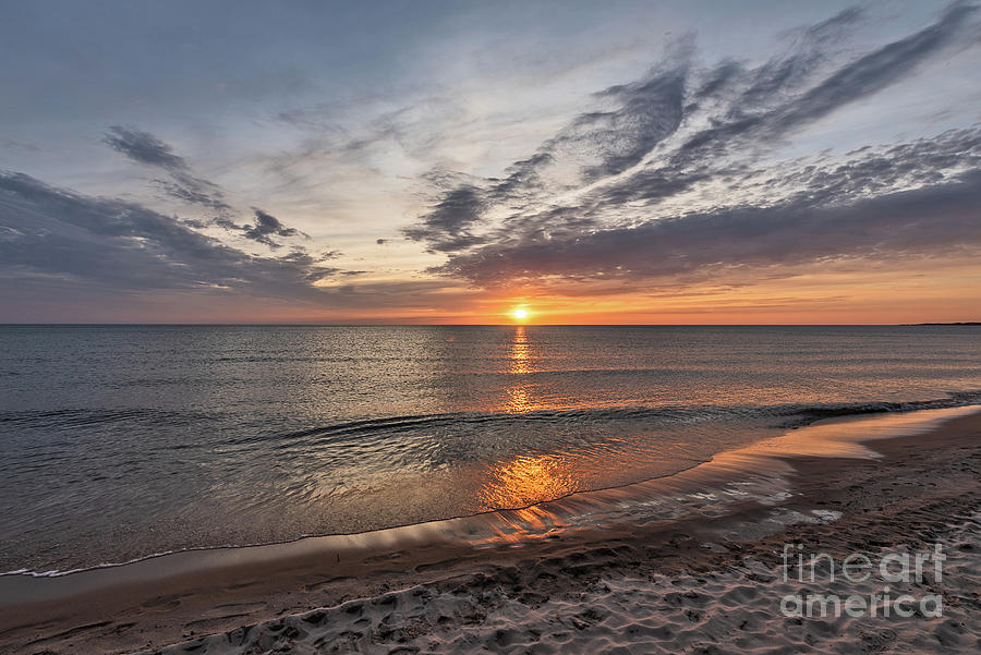 Spring Sunset on Lake Michigan by Sue Smith