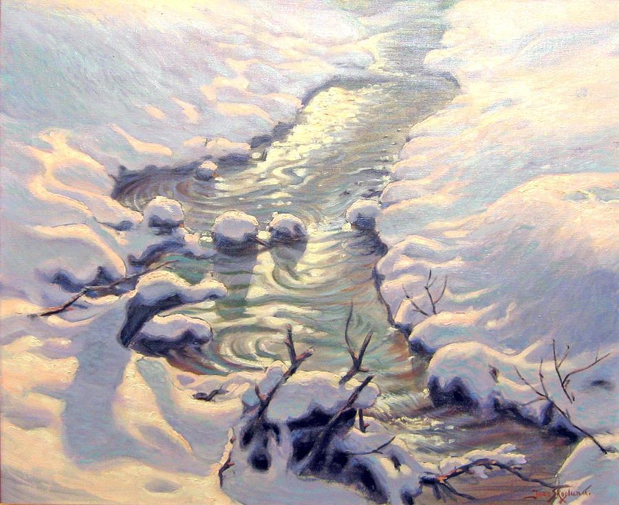 Landscape Painting - Spring Thaw by Jean Skoglund