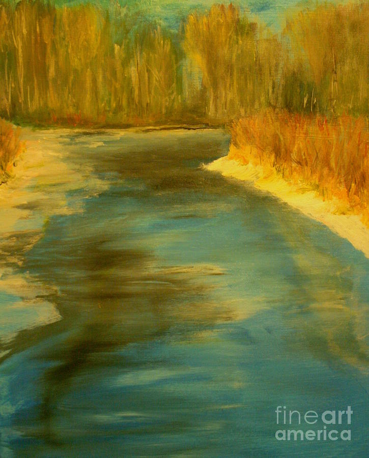 Landscape Painting - Spring Thaw by Julie Lueders