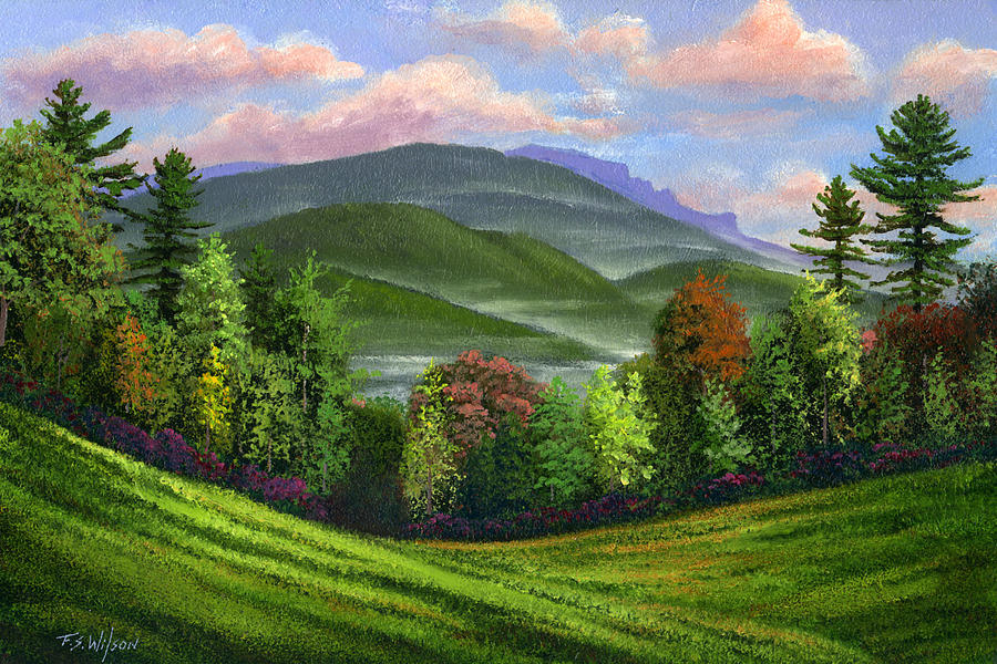 Landscape Painting - Spring Time by Frank Wilson
