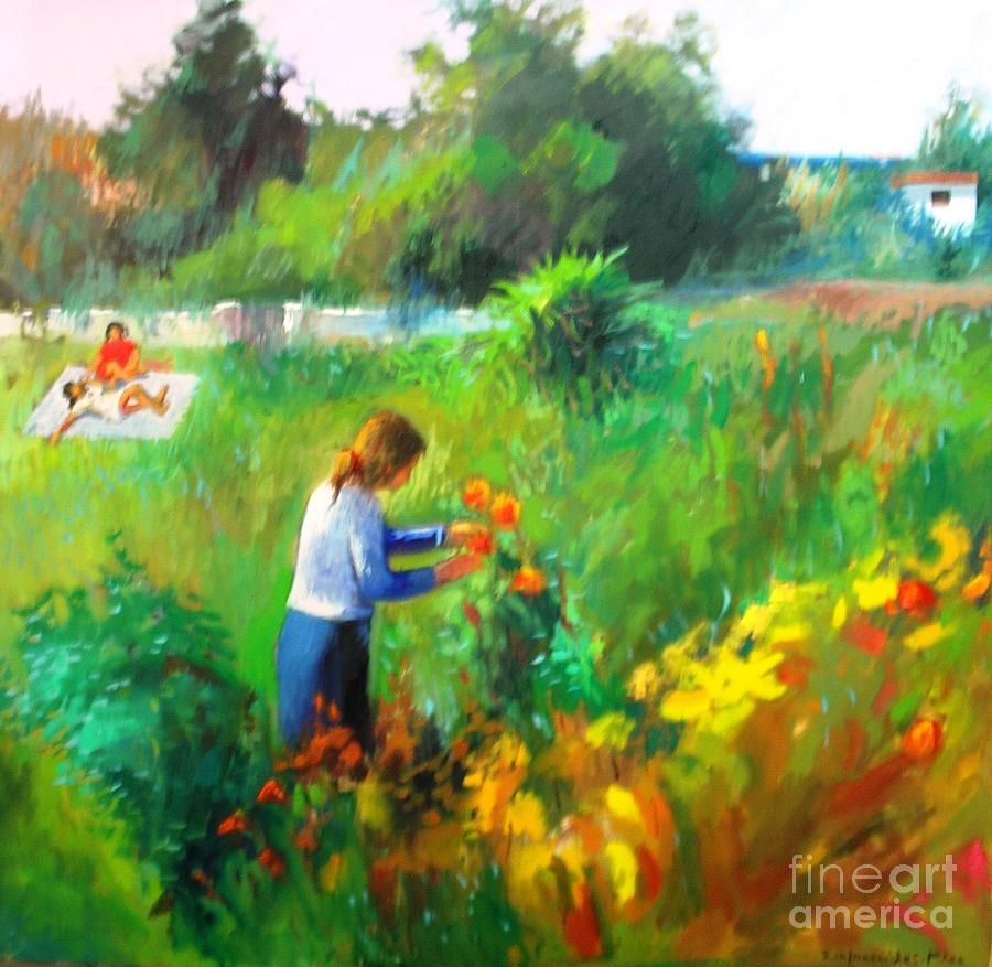 Landscapes Painting - Spring Time by George Siaba