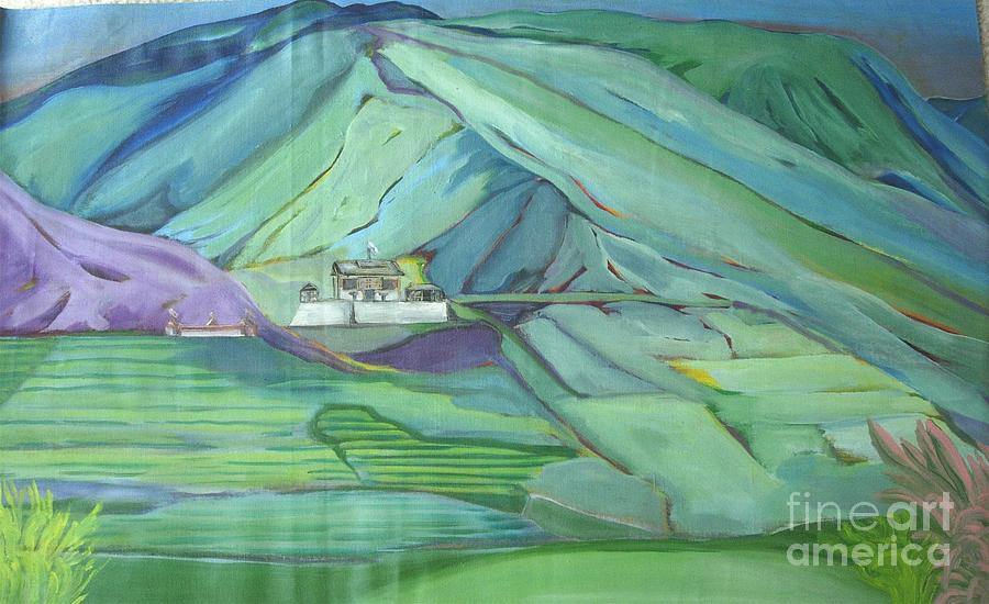 Abstract Painting - Spring Time In Thimpu by Duygu Kivanc