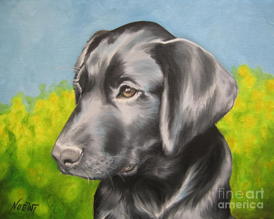 Dog Painting - Spring Time by Jindra Noewi