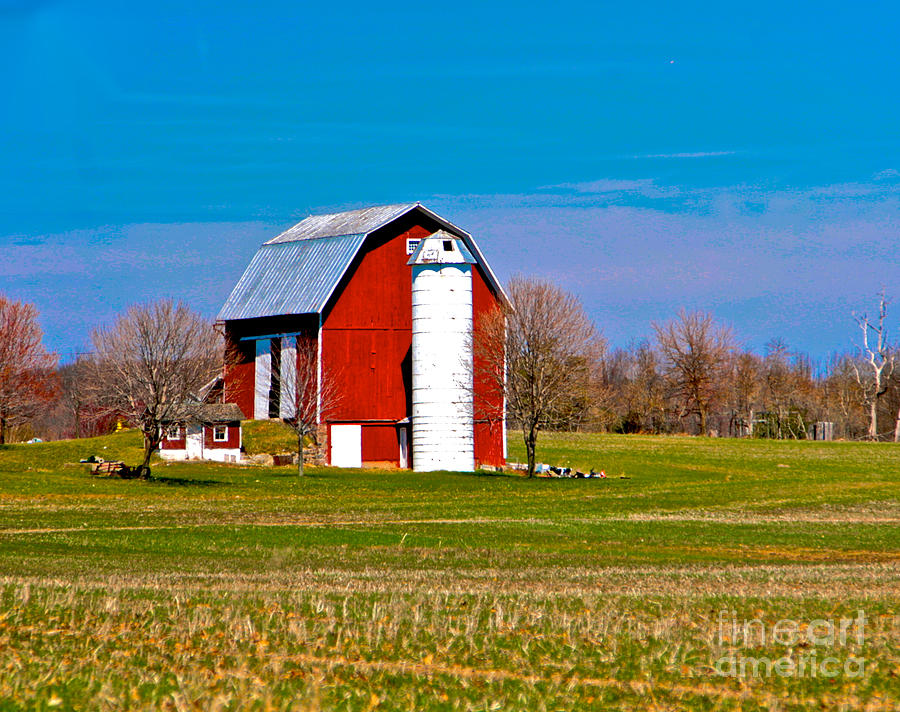 Barn Photograph - Spring Time On The Farm by Robert Pearson